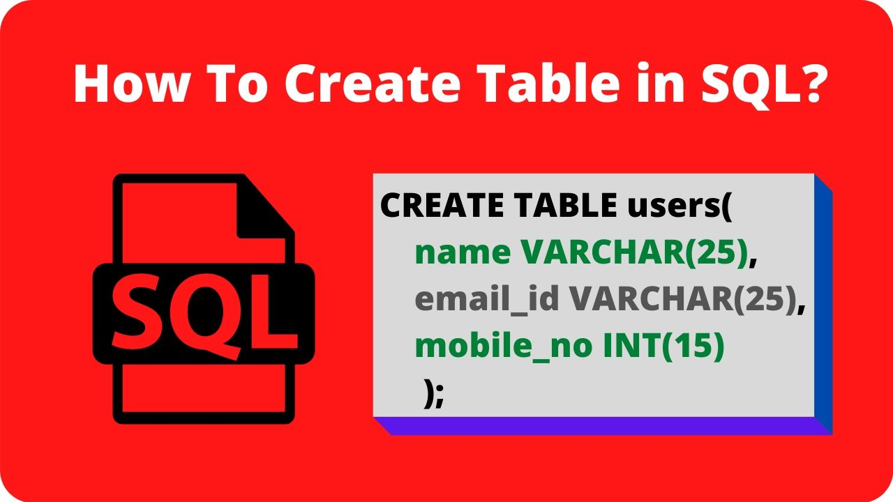 create table in sql