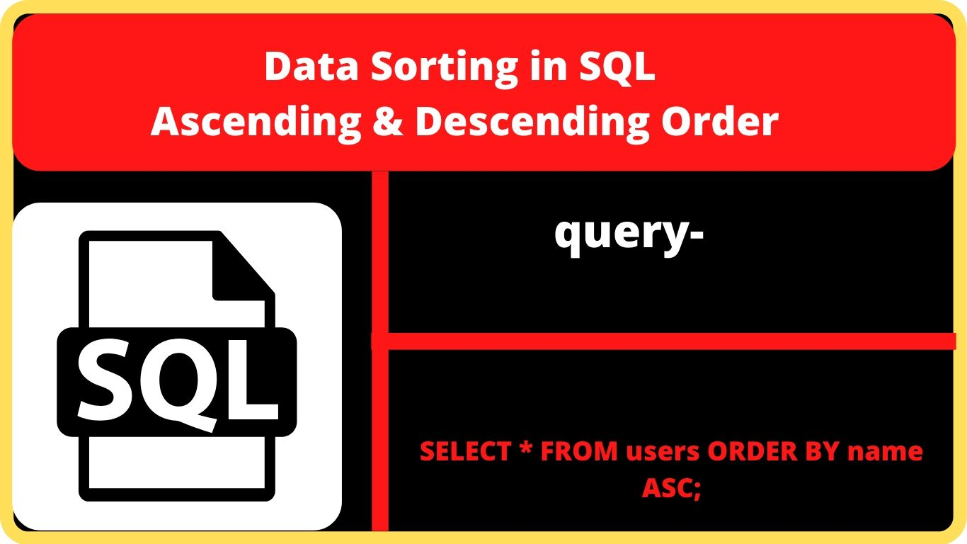 data sorting in sql