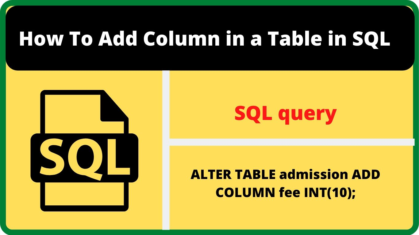 add column in table